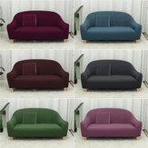 Capa grande de sofá elástica de poliéster de três lugares lavável à máquina para sofá para decoração de escritório doméstico