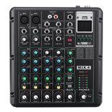 6-kanałowy bluetooth DJ HD Sterowanie mikserem dźwięku z mikrofonem Wyświetlacz cyfrowy LED Strumień muzyki z interfejsem USB