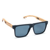 Wooden Polarized Sunglasses Mens Womens Square Glasses Bamboo Wood Glasses w/ Box