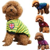 Pet Dog Cat Striped Clothing T shirt Pet Apparel Vest  Winter Spring Pet Customes 3 Colors