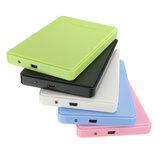 Caja de disco duro USB 2.0 para disco duro HDD de 2.5 pulgadas Caso