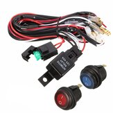40A 12V LED Light Bar Bedrading Harness Relais Aan / Uit Switch Voor Jeep Off Road Vehicles ATV
