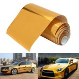 10cmx150cm Or Vinyle Wrap Film Autocollant De Voiture Decal Air Bulle Gratuit