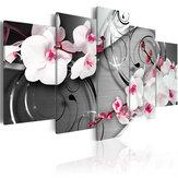5Pcs Leinwanddruck Gemälde Narzissenblumen Wanddekoration Druckkunst Bilder Rahmenlose Wandbehangdekorationen für das Home Office