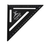 Regla triangular 150 / 300mm Velocidad Cuadrado Aleación de aluminio Transportador de ángulo recto herramientas Carpintería Carpintería Medición herramientas