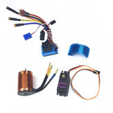 HSP Veículo Off-Road Brushless 3300/3930 / 4370KV RC Motor Do Carro 120A ESC Servo Para 1/8 1/10 Carro RC