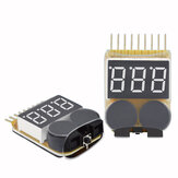 Lipo البطارية Low Voltage Meter Tester 1S-8S Buzzer إنذار