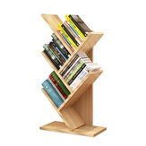 Tree-Shaped Small Bookshelf Multi-Layer Wooden Storage Rack Standing Shelf Household Desktop Bookcase Simple Children's Room Decor