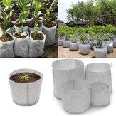 10 Pcs Eco-Friendly Rodada Tecido Pot Plantio Bolsa Raiz Crescer Aeração Recipiente de Mudas Bolsa Caixa