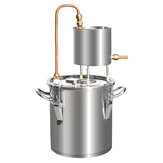 12L / 20L / 33L / 50L distillateur d'alcool 201 brasseur encore en acier inoxydable Kit d'eau pure brasseur d'alcool chaudière à huile
