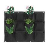 12 Pocket Planter Vertikale Gartenwandpflanzung im Freien Hängende Tasche Wall Pocket Planter