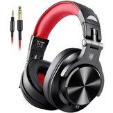 Oneodio A71 com fio Fones de ouvido HIFI Estéreo 40MM Dinâmico 3,5 mm / 6,35 mm Head-Mounted Stretchable Studio DJ Gaming Headset com microfone