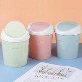 Bakeey Creative Plastic Storage Bin Household Mini Desktop Trash Can Living Room Table Bedside Flip Trash Can