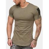T-shirt casual comode da uomo traspiranti Collo