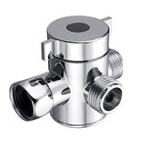 Três válvulas do adaptador do interruptor da cabeça de chuveiro da válvula do desviador da maneira para o bidê do toalete