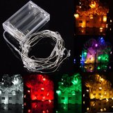 2M 20 LED Battery Powered Snowman String Peri Cahaya Untuk Pesta Natal Weddinng Decor