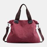 KvinderVintagestorkapacitethåndtaskeskulder taske