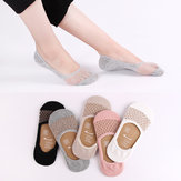 Women Summer Mesh Thin  Invisible Breathable Antiskid Boat Sock Breathable Low Cut Socks