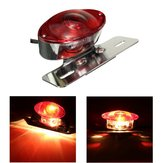 5W Motor Achter Cat Eye Brake Tail Licht Rood Lens Met Chrome Nummerplaat Beugel
