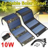 Plegable Impermeable 10W 5V con cable USB 10 en 1 Solar Panel Sun Power Solar Cells Bank Pack para mochila de teléfono