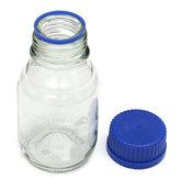 Flacon à réactif en verre expérimental, bouchon à vis bleu, 100ml 250ml, 500ml, 1000ml