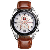 Deffrun Business Style Decorate Three Dials Quartz Watches
