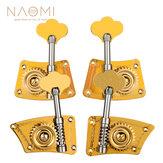 NAOMI Upright Bass Single Tuner Machine Bass Pegs Brass Material 4/4 3/4 Contrabaixo Tuning Pegs SET