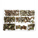 220Pcs Rivnut Rivet Nut Kit Cabeça redonda M3 M4 M5 M6 M8 M10 M12 Kit Set ABS Caso