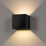2Pcs Luz cálida LED Pared Lámpara Interior / al aire libre LED Impermeable Lámparas de pared modernas