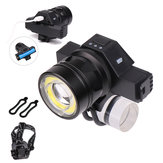 Waterproof USB Rechargeable Front LED Headlights Zoomable T6 COB LED Bike Light Back Cycling