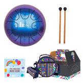 Ocelový buben IRIN 5,5 palcový 8tunový ocelový ruční buben s paličkami na přenášení tašek bicí nástroj