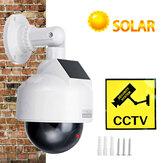 Bakeey CCTV Dummy камера Солнечная Power Video Surveillance На открытом воздухе Мигающий красный LED Моделирование PTZ Батарея Безопасность Dome Cam