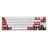 Conjunto de teclas de teclado vermelho e branco de 120 teclas, perfil de cereja PBT, teclas de sublimação japonesas para teclados Mecânico