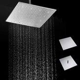 16 '' 250MM 304 en acier inoxydable Pomme de douche pluie Ultra mince mince tête de douche de pluie