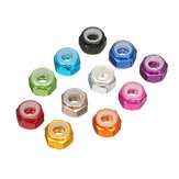 Suleve ™ M3AN1 10 Pcs M3 Nut Self-locking Nylon Kunci Hex Nut Aluminium Alloy Multicolor