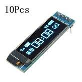 10個Geekcreit®0.91インチ128x32IIC I2C青色OLEDLCDディスプレイDIYモジュールSSD1306ドライバーICDC 3.3V 5V