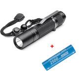 BLF A6 XPL 1600LM 7/4 modos EDC LED Lanterna + 1Pcs Astrolux® E1825 2500mAh 18A 3,7V 18650 Li-ion Bateria