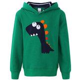 キッドボーイズカジュアルロングスリーブ恐竜パターンフード付きスエットシャツ