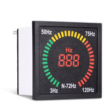 N-72HZ 3 ~ 120Hz 68 mm gatgrootte digitale frequentiemeter 73 mm vierkant paneel LED-display elektrische Hertz-testerindicator