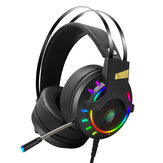 LUYS K3 Spielkopfhörer 7.1 Kanal 3.5mm USB Wired Bass RGB Gaming Headset Stereo Sound Headset mit Mikrofon für PS4 Computer PC Gamer