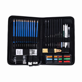 H & B HB-TZ65 48 Pcs Crayons À Esquisser Ensemble Art Fournitures Sketch Tool Set Peinture Crayon Professionnel Dessin Esquisse Art Kit avec Sac de Transport