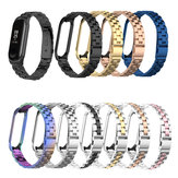 Bakeey Colorful Stainless Steel Watch Band Replacement Watch Strap for Xiaomi mi band 3/4 Non-original