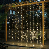 3M * 3M 8 Moduser Batteri Operated USB Bryllup Drape LED String Light Christmas Birthday Party Decor