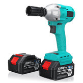100-240V Li-ion Electric Wrench Brushless Impact Wrench Wood Work Power Tool with 2 Battery