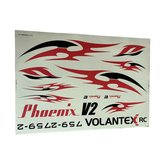 Volantex Phoenix V2 759-2 2000mm Wingspan RC Airplane Spare Part Decals 1 Piece