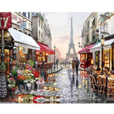 DIY Olieverf Door Getallen Kits Parijs Straat Landschap Wall Art Canvas Foto Nummers Home Decor Art Supplies