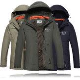 Męskie wojskowe Outdooors z kapturem Szybkie suszenie Casual cienka kurtka Wiosna Jesień Jednolity kolor płaszcz