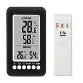 Room Wireless Digital LCD Display Alarm Thermometer Indoor Outdoor Humidity Temp