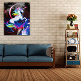 Rainbow Unicorn Paint By Number Kit DIY Digital Oil Paintings Canvas Home Decor