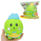 WOOW Squishy Dinosaur Chef 15.5CM Slow Rising Soft Collection Gift Decor Toy Original Packaging